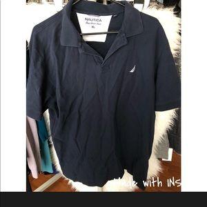 Men nautica navy polo shirt extra large